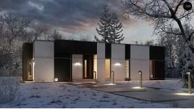 Проект Zx116 Одноэтажный комфортный дом в стиле хай-тек.  Проекты домов и гаражей