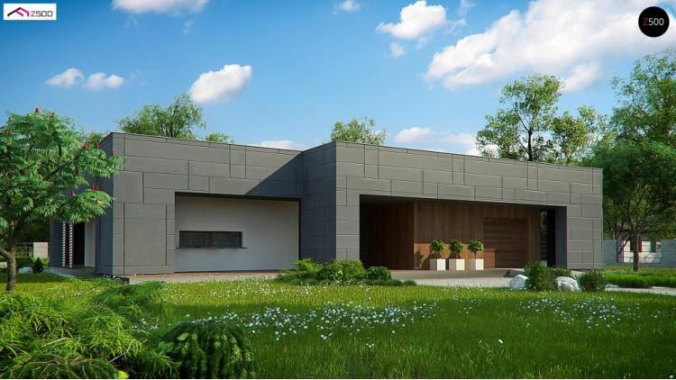 Проект Zx118 Современный односемейный одноэтажный дом с плоской крышей  Проекты домов и гаражей