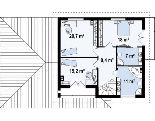 Проект Zx12 GL2 Версия проекта Zx12 с гаражом для двух машин.  Проекты домов и гаражей