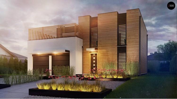 Проект Zx120 Стильный двухсемейный дом современного дизайна  Проекты домов и гаражей