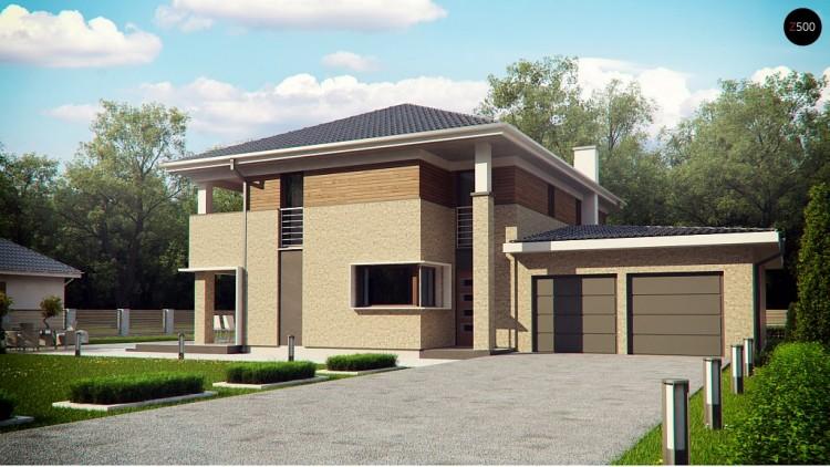 Комфортная двухэтажная усадьба Zx122 с гаражом на 2 авто, с сауной на 1 этаже