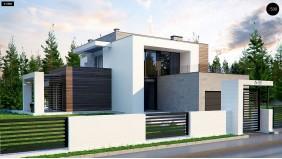 Проект Zx125 Просторный коттедж с цокольным этажом, подойдет для участка со склоном  Проекты домов и гаражей
