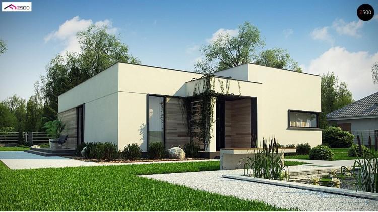Проект Zx138 Одноэтажный дом с панорамными окнами и плоской кровлей  Проекты домов и гаражей