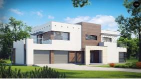 Проект Zx15 GL2 Версия проекта Zx15 с гаражом для двух автомобилей.  Проекты домов и гаражей