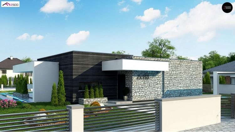 Проект Zx153 Современный одноэтажный дом с 3 спальнями и внутренним двориком  Проекты домов и гаражей