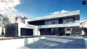 Проект Zx154 Просторный современный двухэтажный дом  Проекты домов и гаражей