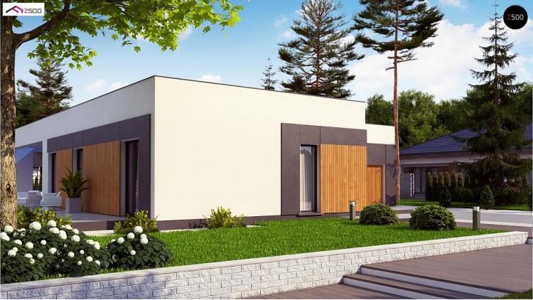 Проект Zx185 Проект стильного одноэтажного дома в современном стиле  Проекты домов и гаражей