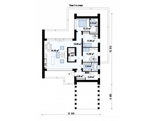 Проект Zx201 Современный дом с просторной гостиной и большим остеклением  Проекты домов и гаражей