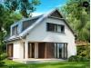 Проект компактного функционального дома с оригинальными архитектурными элементами - ZX23