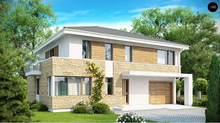 Просторный двухэтажный дом минималистичного современного дизайна - ZX29