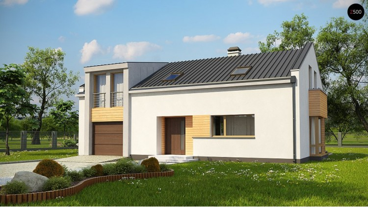 Проект Zx36 A Версия проекта Zx36 с альтернативной планировкой.  Проекты домов и гаражей