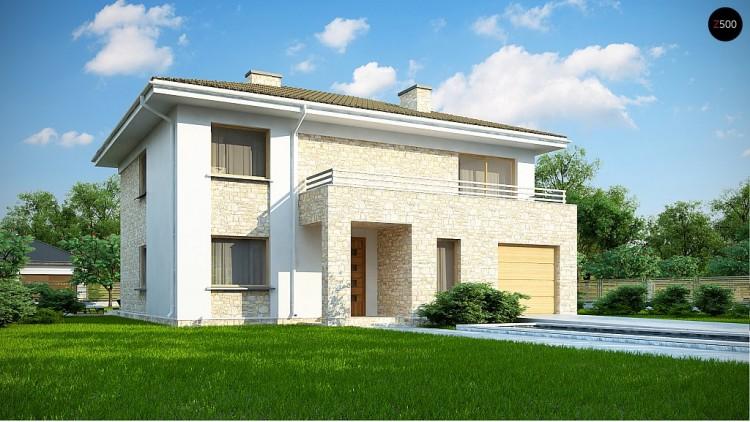 Проект Zx4 A Дом с полноценным вторым этажом , четырьмя спальнями , гаражом и кабинетом на первом этаже  Проекты домов и гаражей