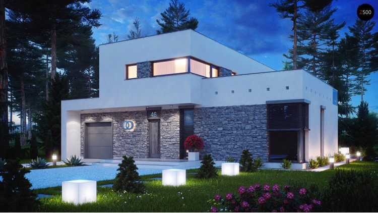 Проект кoмфортабельного особняка в стиле модерн элегантного дизайна - ZX46