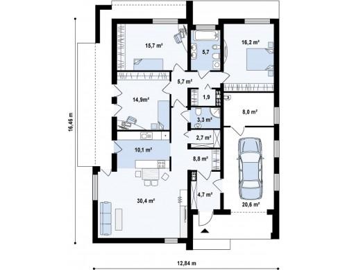 Проект Zx49 minus Уменьшенная версия проекта Zx49  Проекты домов и гаражей