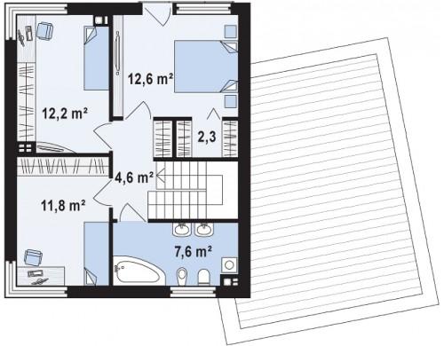 Проект Zx51 GP Версия проекта Zx51 с боковым гаражом.  Проекты домов и гаражей