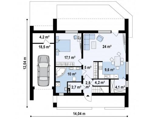 Проект Zx55 2m Версия проекта ZX55 для двух семей  Проекты домов и гаражей