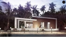 Проект Zx57 Проект современного дома в стиле хай-тек с двумя спальнями.  Проекты домов и гаражей