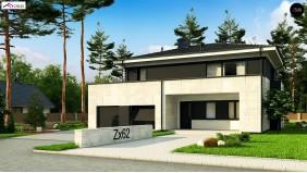 Проект Zx62 A Проект просторного современного коттеджа с 5 спальнями.  Проекты домов и гаражей
