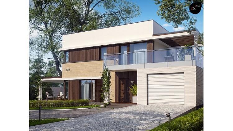 Проект Zx63 s Версия проекта ZX63 адаптированного для сейсмозоны  Проекты домов и гаражей