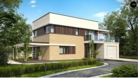 Проект Zx63 A Вариант проекта Zx63 с измененной планировкой помещений.  Проекты домов и гаражей