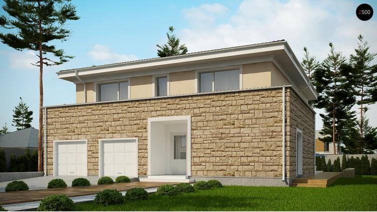 Проект Zx66 Проект комфортной двухэтажной виллы в традиционном стиле.  Проекты домов и гаражей