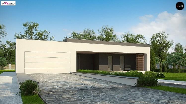 Проект Zx72 Современный дом с 4 спальнями, гаражом на 2 машины и большими окнами  Проекты домов и гаражей