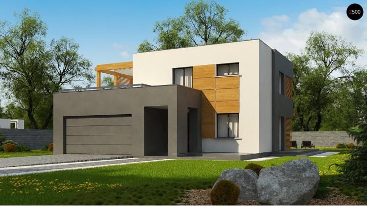 Проект Zx73 Двухэтажный коттедж современного лаконичного дизайна  Проекты домов и гаражей