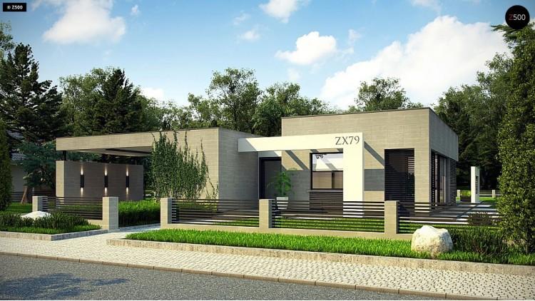 Проект Zx79 Проект комфортного одноэтажного дома с 4 спальнями  Проекты домов и гаражей