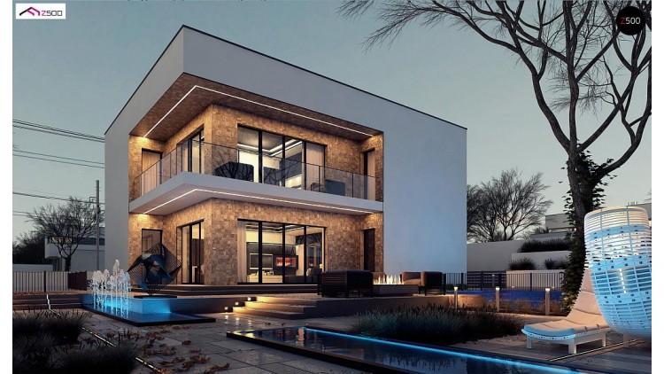 Проект Zx82 Современный дом для одной семьи простой формы  Проекты домов и гаражей