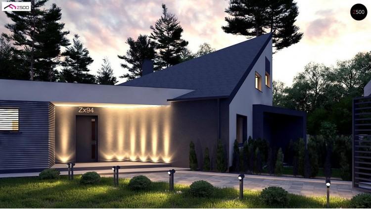Проект Zx94 Проект современного дома с вторым светом, стильной кровлей и удобной планировкой.  Проекты домов и гаражей
