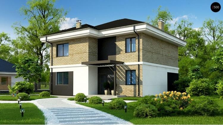 Проект Zz1 a Двухэтажный дом с современным дизайном экстерьера и удобным интерьером  Проекты домов и гаражей