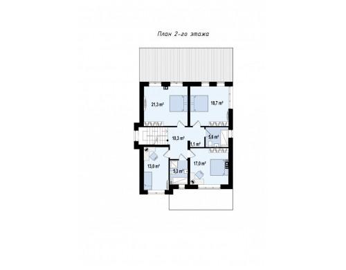 Проект Zz2 L BG Проект двухэтажного дома в классическом стиле с дополнительной спальней на первом этаже.  Проекты домов и гаражей