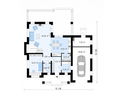 Проект Zz2 S Проект двухэтажного дома, адаптированный для строительства в сейсмоопасных районах  Проекты домов и гаражей