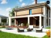 Проект Zz4 Двухэтажный коттедж с уютной террасой и балконом  Проекты домов и гаражей