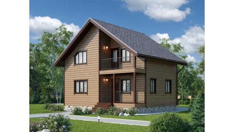 Проект каркасного дома KD-001 7х9м - 116 кв.метров 2 этажа