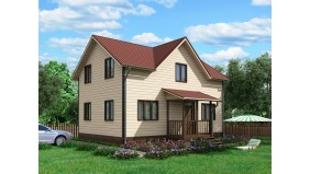 KD-002 - Двухэтажный каркасный дом