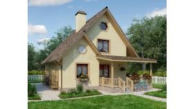 KD-006 - проект дом из деревянного каркаса с мансардным этажом