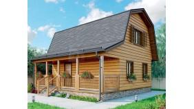 KD-007 - проект дом с мансардой, который прекрасно подойдет в качестве дачного
