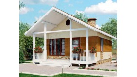 KD-008 - проект небольшого одноэтажного дома 6 на 6 метров