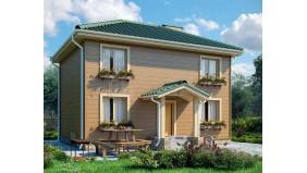 KD-009 - проект простой двухэтажный дом