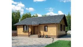 KD-014 - проект одноэтажный дом предназначенный для дачи
