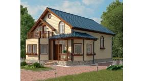 KD-015 - проект дом с мансардным этажом
