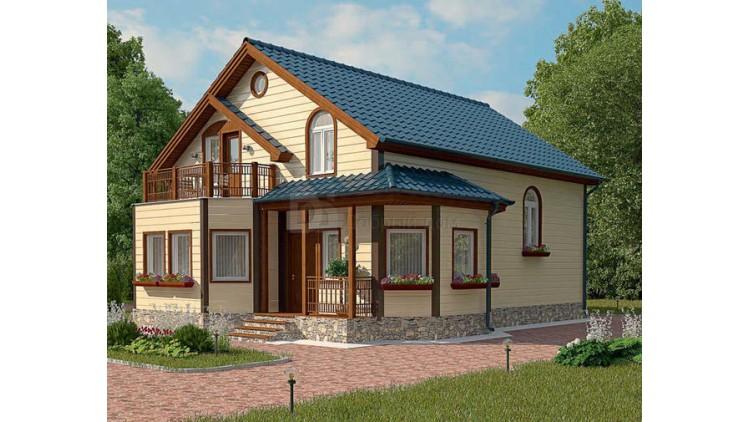 Проект каркасного дома KD-015 165.7 м², 12.2 м × 9.5 м, 2 этажа