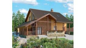 KD-017 - проект проект уютного двухэтажного дома с мансардой