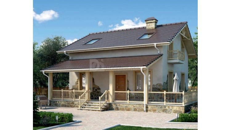 Проект каркасного дома KD-018 174.6 м², 9.3 м × 9.3 м, 2 этажа