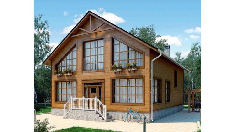 Проект каркасного дома KD-020 180.7 м² ,12 м × 9 м, 2 этажа