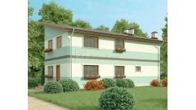KD-021 - проект двухэтажный дом, который подойдет для узких участков благодаря своей вытянутой форме