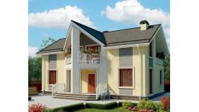 KD-022 - проект дом на две семьи с общей котельной, тамбуром и балконом