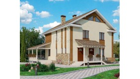KD-023 - проект дом из деревянного каркаса с заполнением утеплителем