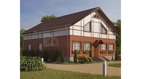 KD-024 - проект современный одноэтажный дом с мансардо